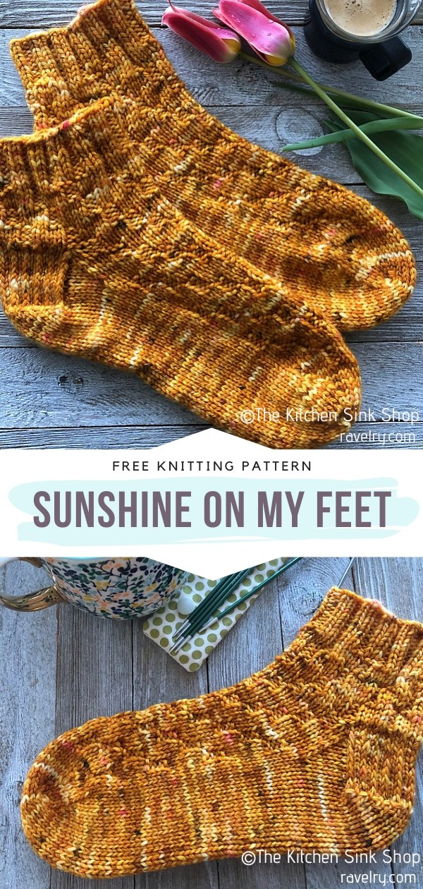 Sunshine on My Feet Knit Socks