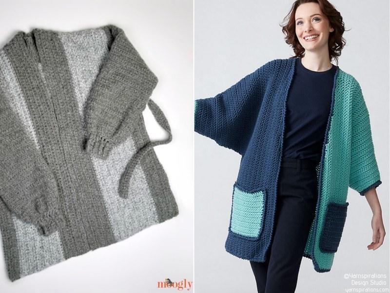 Trendy Oversized Cardigans Free Crochet Patterns