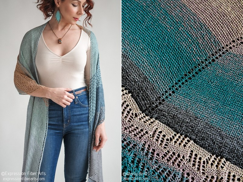 Pretty Long Shawls Free Knitting Patterns