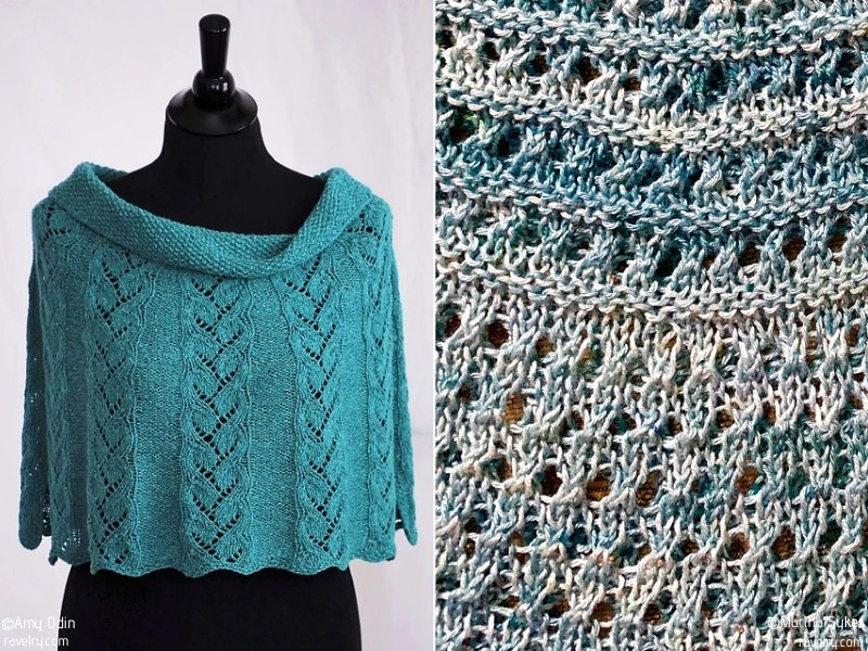 Turquoise Capelets Free Knitting Patterns