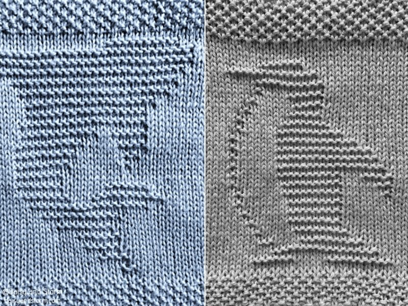 Quadrados de animais aquáticos - padrões de tricô grátis