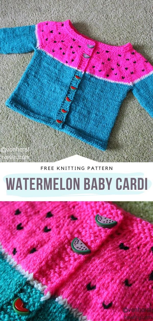 Watermelon Knit Baby Cardi