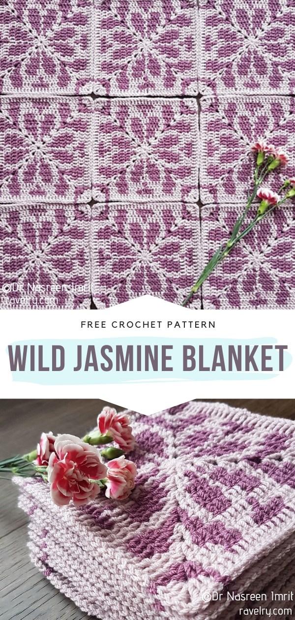 Wild Jasmine Crochet Blanket