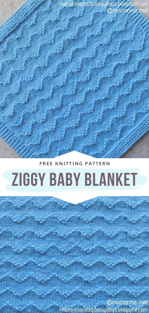 Ziggy Knit Baby Blanket