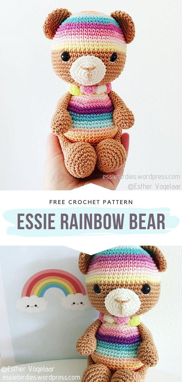 Essie Rainbow Bear Amigurumi Toy