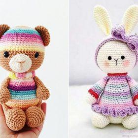 Rainbow Stripes Amigurumi Free Crochet Patterns