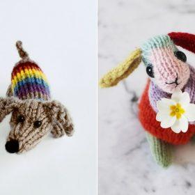 Rainbow Animals Free Knitting Patterns