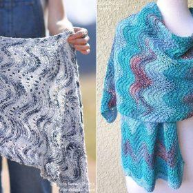 Blue Waves Shawls Free Knitting Patterns