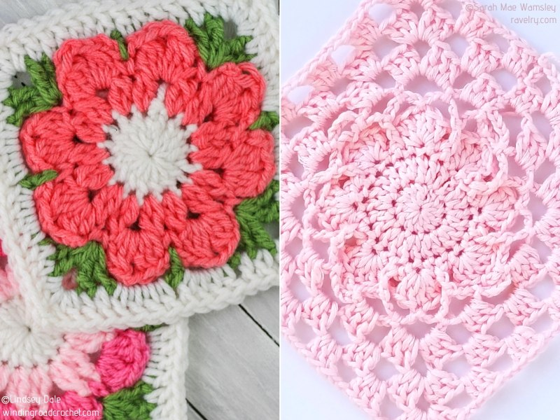 Charming Flower Crochet Squares