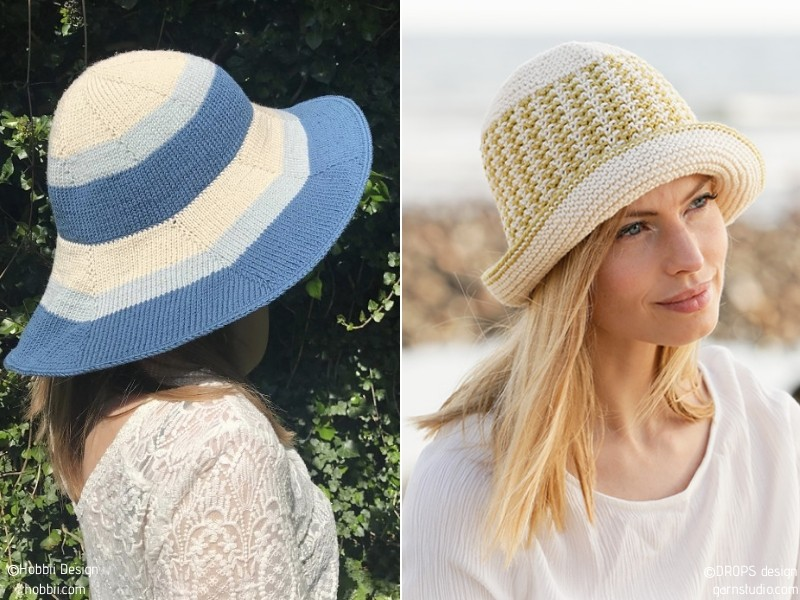 Chic Summer Hats Free Knitting Patterns