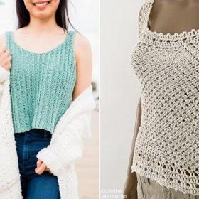 Classy Tank Tops Free Crochet Patterns