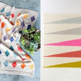Colorful Geometry Blankets Free Knitting Patterns