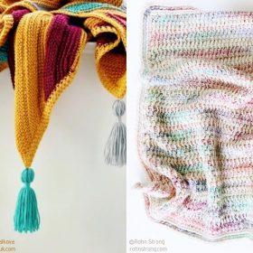 Modern Tunisian Blankets Free Crochet Patterns