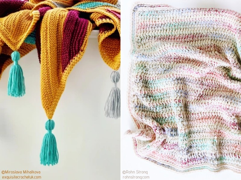 Modern Tunisian Crochet Blanket