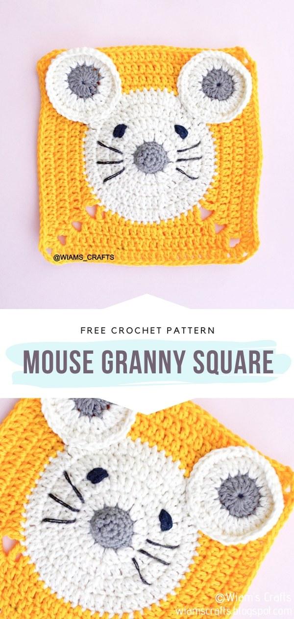 Mouse Crochet Granny Square