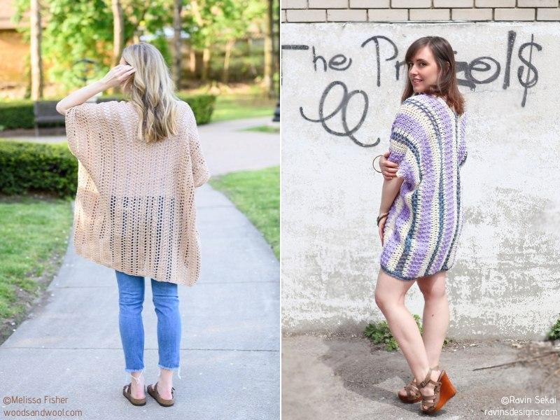 Pretty Summer Kimonos Free Crochet Patterns