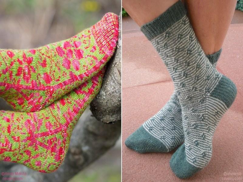 Floral Knit Socks