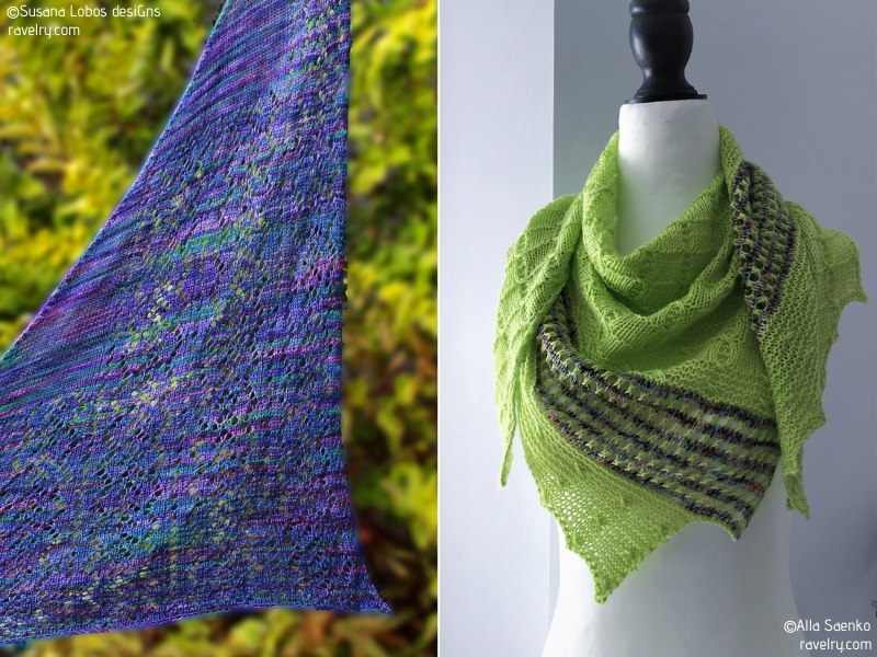Spring Lover's Shawls Free Knitting Patterns