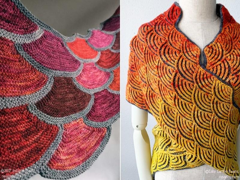 Stunning Modular Shawls Free Knitting Patterns
