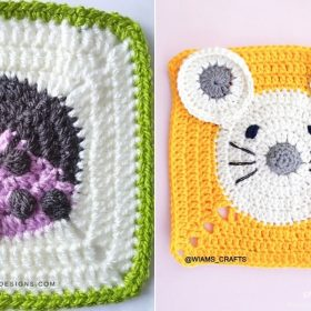 Fun Animal Squares with Free Crochet Patterns