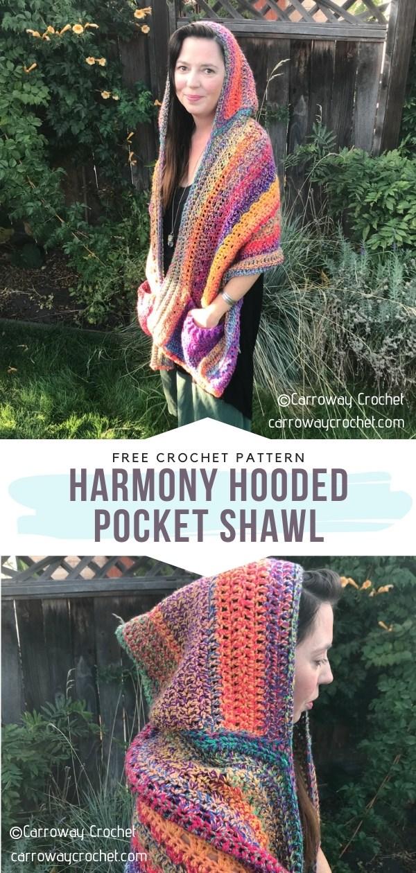 Hooded Pocket Shawl