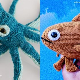 Softies from the Underwater with Free Knitting Patterns