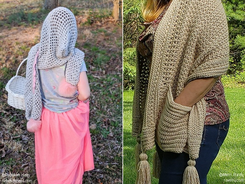 Hooded Crochet Wraps