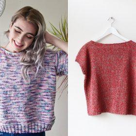 Boxy T-shirts Free Knitting Patterns