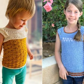 Chic Girl's Lacy Summer Tops Free Crochet Patterns