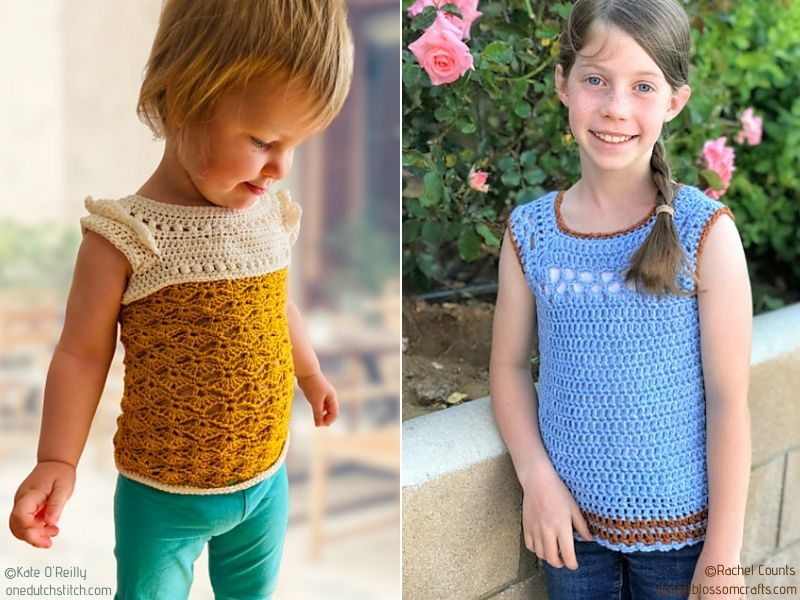 Chic Girl's Crochet Lacy Summer Tops