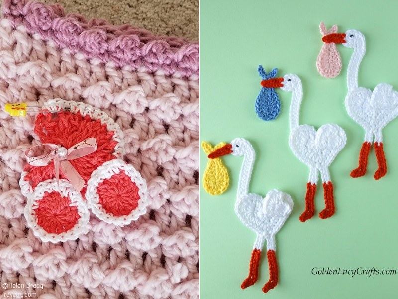 Crochet Baby Shower Appliques