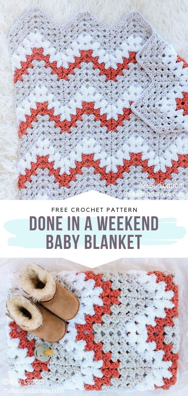 Ripple Stitch Baby Blanket