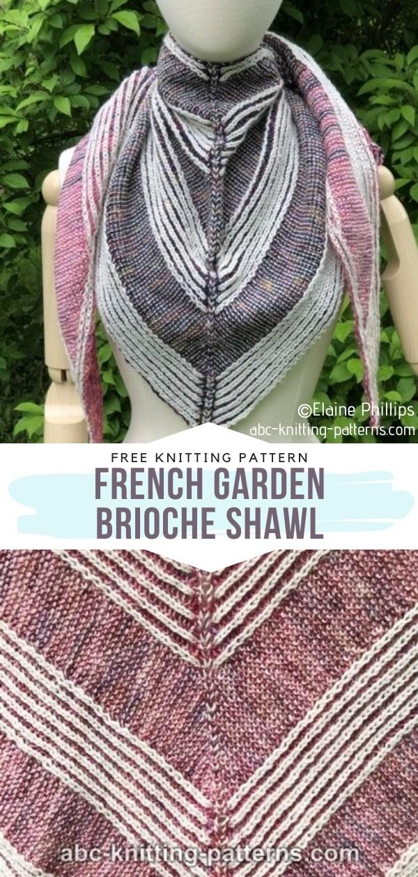 French Garden Brioche Knit Shawl