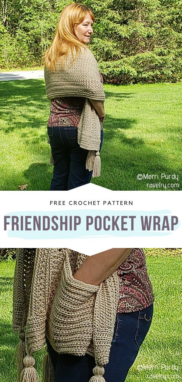 Crochet Pocket Wrap