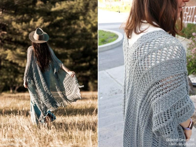 Minimalist Kimonos Free Knitting Patterns