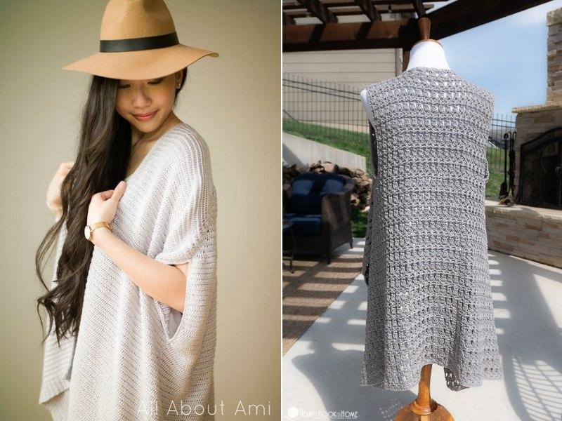 Minimalist Vests Free Crochet Patterns