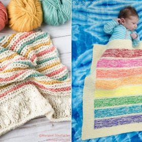 Rainbow Blankets Free Knitting Patterns