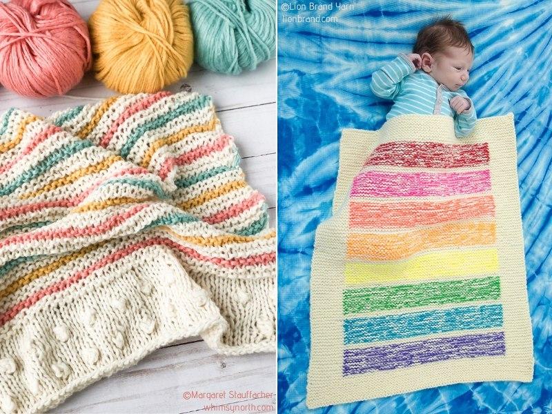Rainbow Knit Blankets