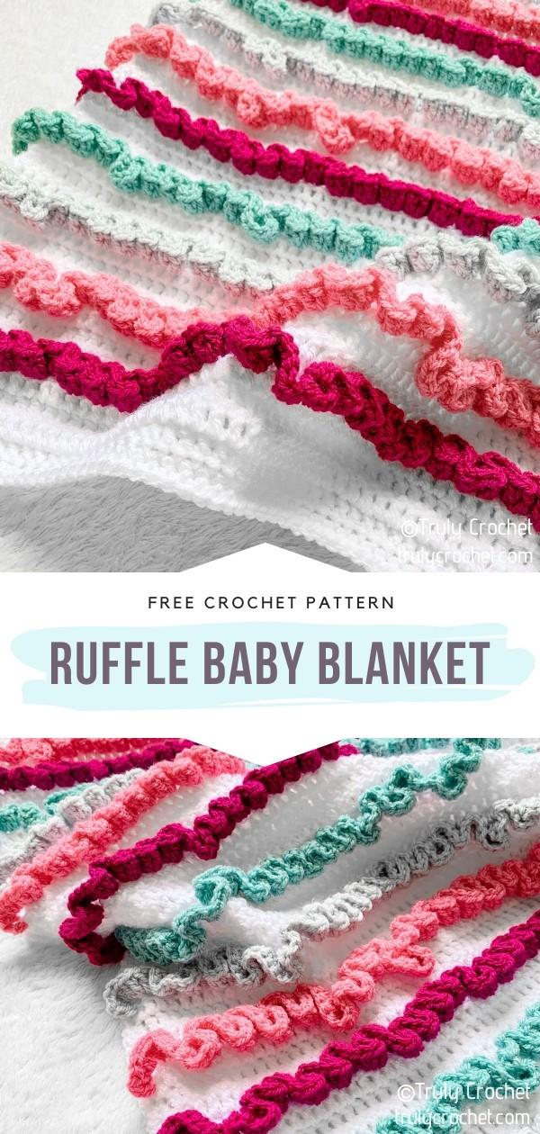 Ruffle Crochet Baby Blanket