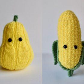 Yellow Veggie Softies Free Knitting Patterns