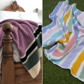 Stripy Blankets for Beginners with Free Crochet Patterns