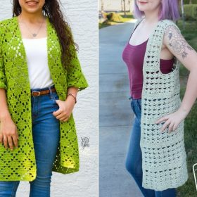 Lacy Kimonos for Summer Free Knitting Patterns