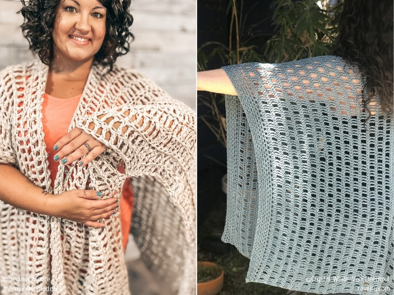 Chic Ruanas for Summer with Free Crochet Patterns
