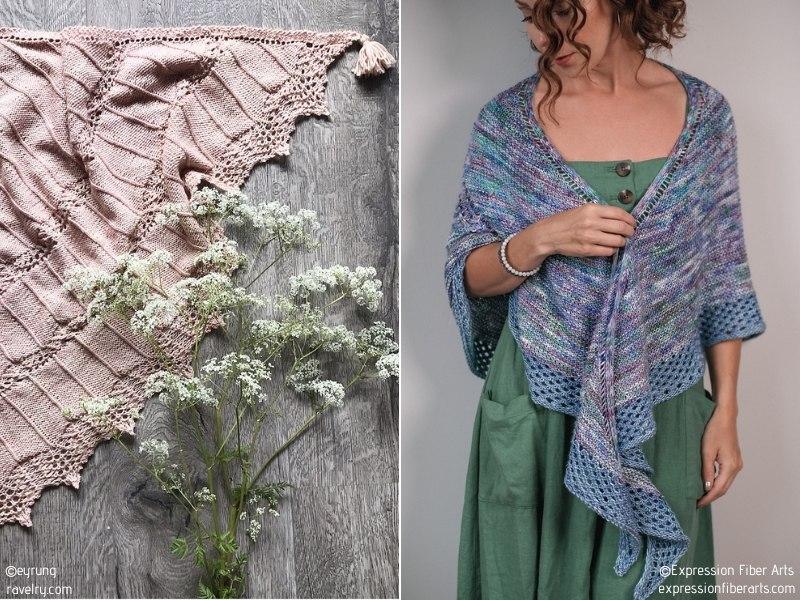 Beautiful Triangle Shawls Free Knitting Patterns