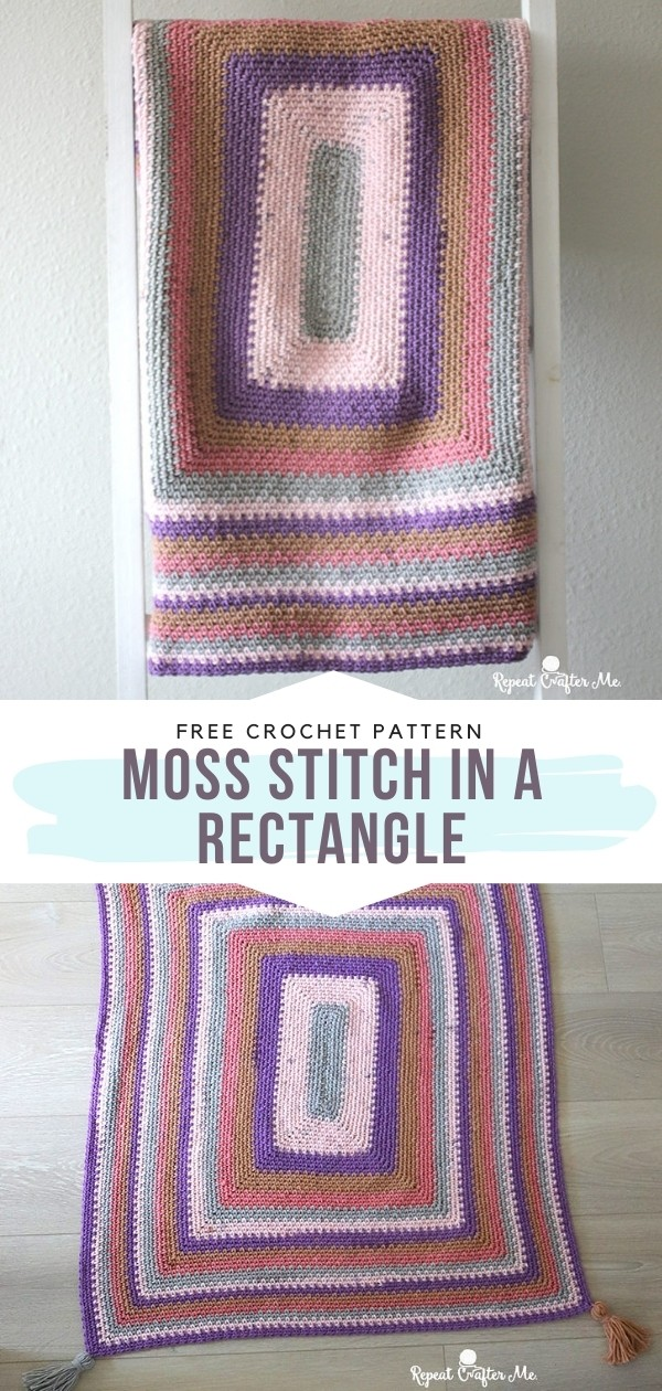 Moss Stitch Rectangle Blanket