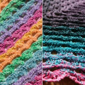 Multicolor Summer Wraps with Free Crochet Patterns
