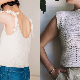 Creamy Beige Summer Tops with Free Crochet Patterns