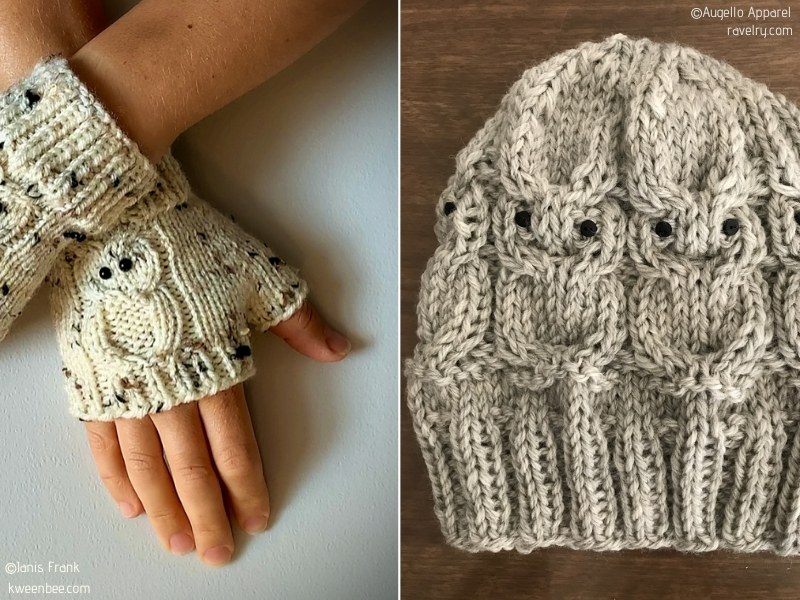 Owl Accessories with Free Knitting Patterns