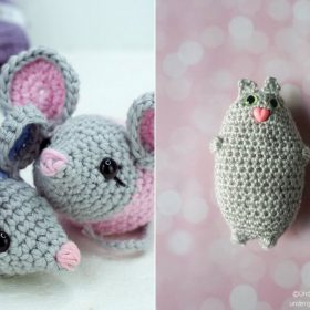 Cat and Mouse Amigurumi Free Crochet Patterns