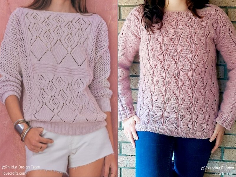 Powder Pink Summer Sweaters